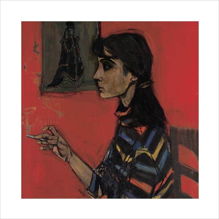 ADNET-francoise-arts-decorartifs-objets-toile--moune-fond-rouge