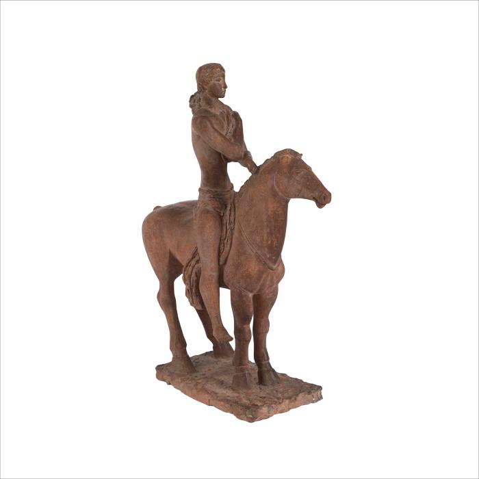 Androusov cheval sculpture terre-cuite