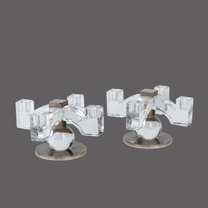 jacques adnet bougeoirs cristal baccarat 2