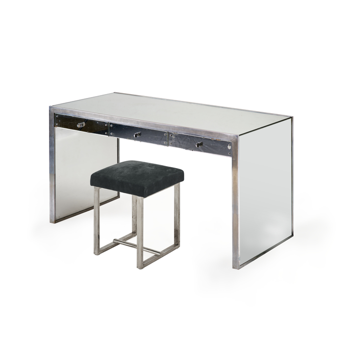 jacques adnet bureau moderniste metal miroir