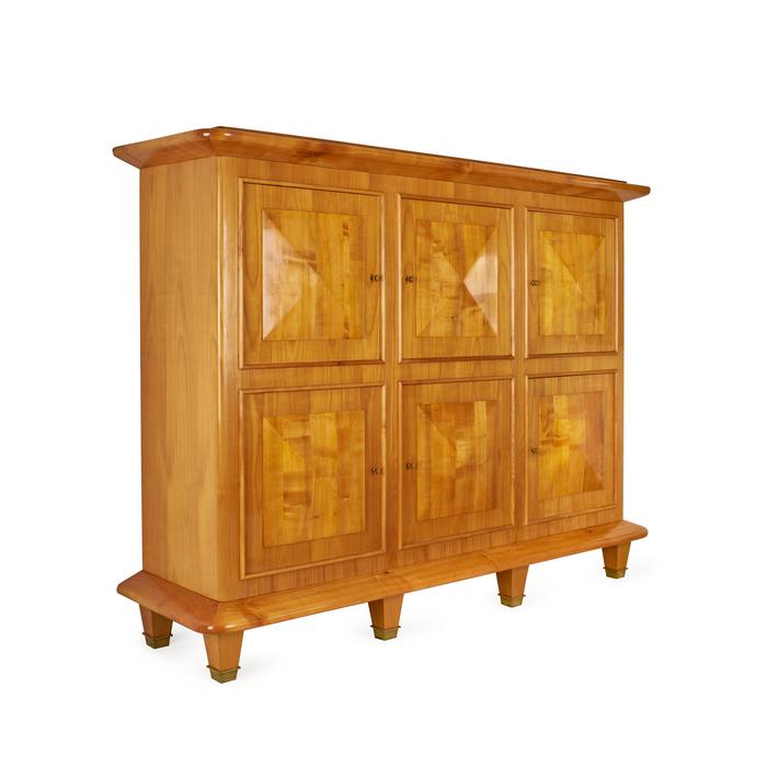 jacques adnet meuble de rangement merisier ferme