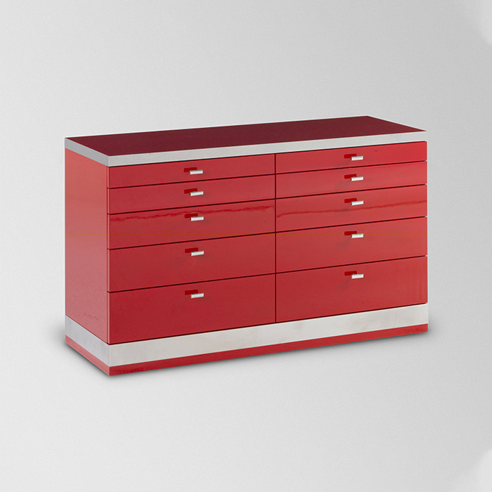 Commode bois rouge Rizzo