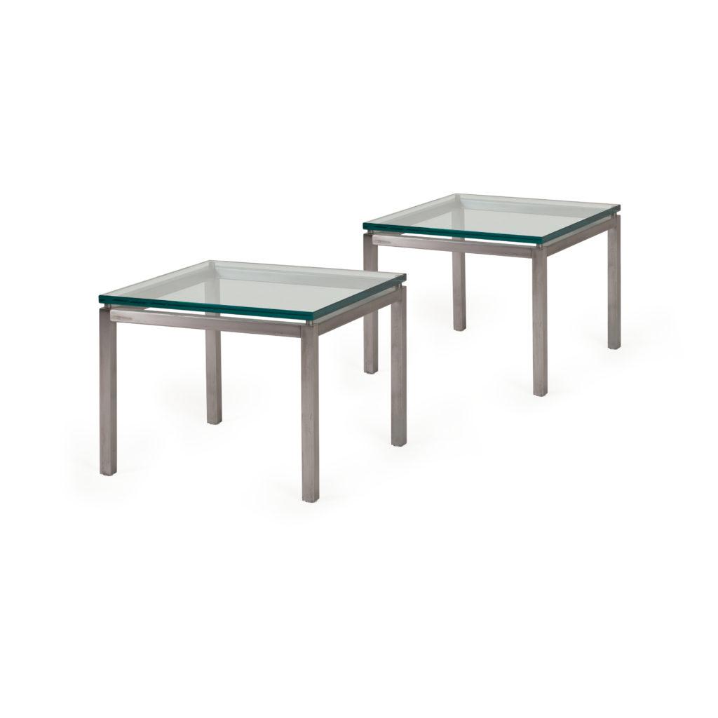 table metal verre 1970
